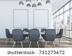 Dining Room Interior With Loft...