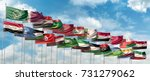 3d illustration of the flags of ... | Shutterstock . vector #731279062