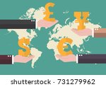 currency exchange concept with... | Shutterstock .eps vector #731279962