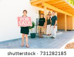 realtor selling a house | Shutterstock . vector #731282185