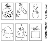set of christmas holiday card...   Shutterstock .eps vector #731282662