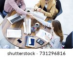 business people handshake in... | Shutterstock . vector #731296816