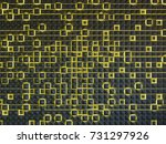 abstract architectural 3d... | Shutterstock . vector #731297926