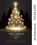 christmas tree. elegant card... | Shutterstock .eps vector #731311492