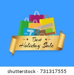 best holiday sale shopping bags ...   Shutterstock .eps vector #731317555