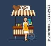 concept of street trading.... | Shutterstock .eps vector #731319616