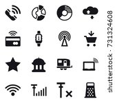 16 vector icon set   call ...