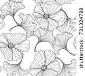 flowers pattern.  line... | Shutterstock .eps vector #731324788