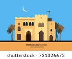 mediterranean moroccan or... | Shutterstock .eps vector #731326672
