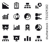 16 vector icon set   crisis ... | Shutterstock .eps vector #731329282