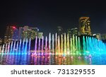 musical colorful water fountain ... | Shutterstock . vector #731329555