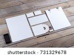 photo of branding identity mock ...   Shutterstock . vector #731329678
