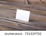 photo of business cards.... | Shutterstock . vector #731329702