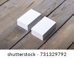 photo of business cards.... | Shutterstock . vector #731329792