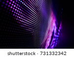 abstract led light wall falling ... | Shutterstock . vector #731332342