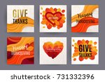 happy thanksgiving design. give ... | Shutterstock .eps vector #731332396
