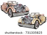 vintage car | Shutterstock .eps vector #731335825