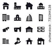 16 vector icon set   home ... | Shutterstock .eps vector #731344138