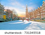 Amsterdam In Winter With The...