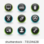 web computer icon for your web... | Shutterstock .eps vector #73134628