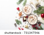 winter hot drink. christmas hot ... | Shutterstock . vector #731347546
