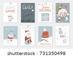collection of 8 cute merry... | Shutterstock .eps vector #731350498