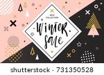 winter shopping sale flyer... | Shutterstock .eps vector #731350528
