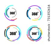 360 degrees icons set isolated... | Shutterstock .eps vector #731352616