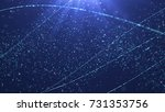 winter particles background.... | Shutterstock . vector #731353756