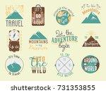 vintage typography travel... | Shutterstock .eps vector #731353855