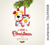 merry christmas and happy new... | Shutterstock .eps vector #731354008