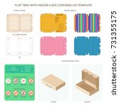 vector flat packaging tray with ... | Shutterstock .eps vector #731355175