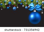 new year background with spruce ... | Shutterstock .eps vector #731356942