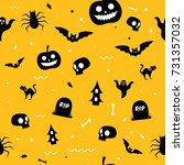 halloween pattern seamless... | Shutterstock .eps vector #731357032