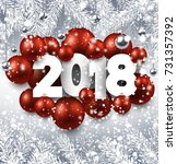 2018 new year background with... | Shutterstock .eps vector #731357392