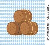 Wooden Barrels With Beer Vector ...