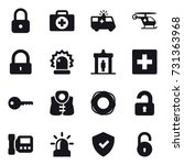 16 vector icon set   lock ... | Shutterstock .eps vector #731363968