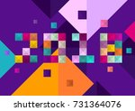 new year 2018. colorful design. | Shutterstock .eps vector #731364076