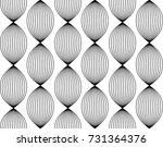 seamless simple linear pattern. ... | Shutterstock .eps vector #731364376