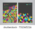 abstract brochure template... | Shutterstock .eps vector #731365216