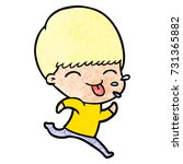 cartoon rude man | Shutterstock .eps vector #731365882