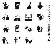 16 vector icon set   cleanser ... | Shutterstock .eps vector #731367772