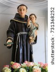 Small photo of Saint Anthony with child Jesus statue