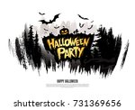 halloween party. vector... | Shutterstock .eps vector #731369656