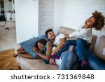 family spending a quality time... | Shutterstock . vector #731369848