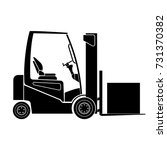 loader icon  forklift icon | Shutterstock .eps vector #731370382