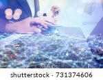 network business concept. | Shutterstock . vector #731374606
