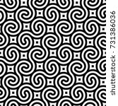 vector geometric pattern.... | Shutterstock .eps vector #731386036