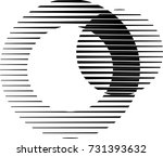 lines in circle form . spiral... | Shutterstock .eps vector #731393632