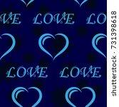 dark stars on a blue background.... | Shutterstock .eps vector #731398618